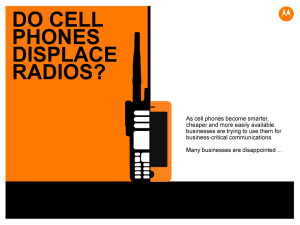 Do cell phones displace radios?